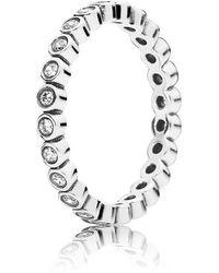 PANDORA - Alluring Delicate Brilliant Ring - Lyst