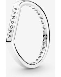 PANDORA Logo Bar Stacking Ring - Multicolour