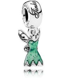 PANDORA - Disney, Tinker Bell's Dress Pendant Charm - Lyst