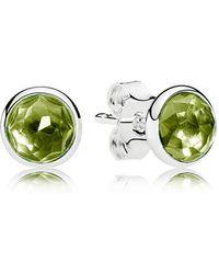 PANDORA - August Droplets Stud Earrings - Lyst