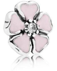 PANDORA - Cherry Blossom Petite Locket Charm - Lyst