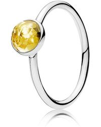 Pandora | November Droplet Birthstone Ring | Lyst