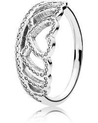 PANDORA - Hearts Tiara Ring - Lyst