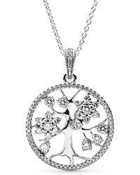 PANDORA - Family Tree Necklace - Lyst