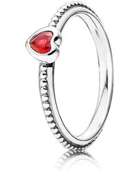 PANDORA - Delicate Heart Ring - Lyst