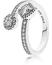 PANDORA - Abstract Elegance Ring - Lyst