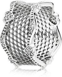 PANDORA - Lace Of Love Ring - Lyst