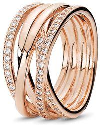 PANDORA - Entwine Ring - Lyst