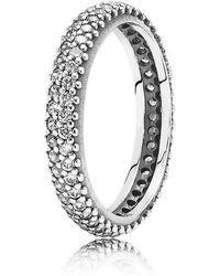 PANDORA - Sparkling Curve Ring - Lyst