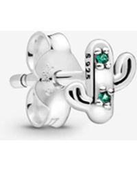 PANDORA - My Lovely Cactus Single Stud Earring - Lyst