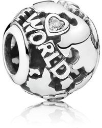 PANDORA - Around The World Openwork Charm - Lyst