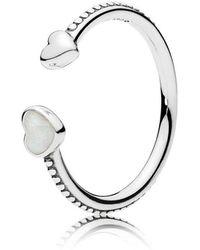 PANDORA - Hearts Of Love Ring - Lyst
