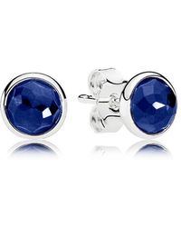 PANDORA - September Droplets Stud Earrings - Lyst