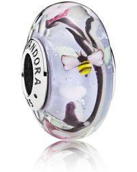 PANDORA - Enchanted Garden Glass Murano Charm - Lyst