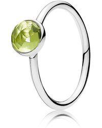 PANDORA - August Droplet Birthstone Ring - Lyst