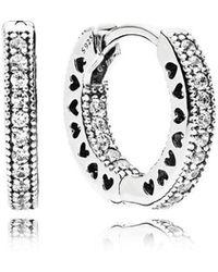 Pandora | Hearts Of Hoop Earrings | Lyst