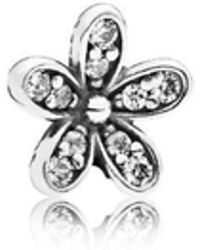 PANDORA - Sparkling Daisy Petite Locket Charm - Lyst