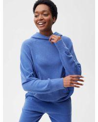 PANGAIA Recycled Cashmere Hoodie - Blue