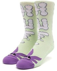 Huf N Puff Buddy Socks - White