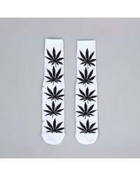 Huf Plantlife Crew Sock White / Black - Grey