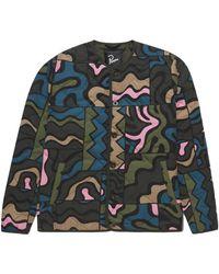 by Parra Parra Gem Stone Pattern Quilted Jacket: Multi - Multicolour