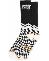 Poler Stuff Two Tab Sock - White