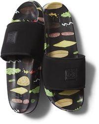 DC Shoes X Bobs Burgers Pool Slides - Black