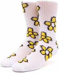 Huf Pushing Daisies Tt Socks - White