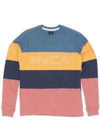 RVCA Shifty Long Sleeved T-shirt - Blue
