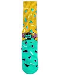Toy Machine 80s Monster Crew Socks Yellow/turq - Multicolour