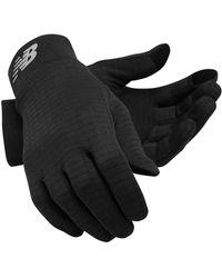 New Balance Grid Fleece Gloves - Black