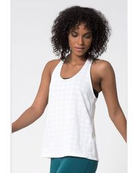 Mpg - Hover 4.0 Houndstooth Run Tank - Lyst