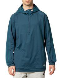 Asics Thermopolis Fleece 1/2 Zip - Blue