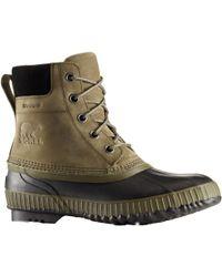 Sorel Cheyanne Ii Leather Lace Boot - Black