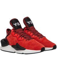 7b07675892083 Lyst - Y-3 Kanja Mesh Sneakers in Red for Men