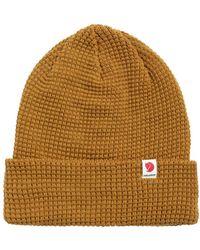 Fjallraven Tab Beanie Hat Acorn - Brown