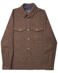 Portuguese Flannel Wool Field Jacket - Brown