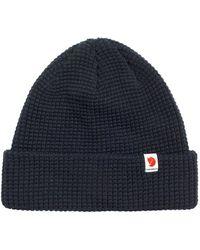 Fjallraven Tab Beanie Hat Dark Navy - Blue