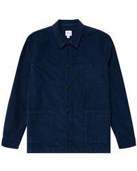 Sunspel Twin Pocket Jacket - Blue