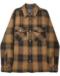 Portuguese Flannel Wool Side Jacket - Brown
