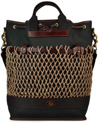Brady Strap Shopper Netted Bag - Black