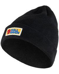 Fjallraven Vardag Classic Beanie Hat Black