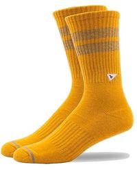 Arvin Goods Crew Socks - Yellow