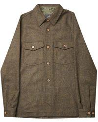 Portuguese Flannel Wool Field Jacket - Green