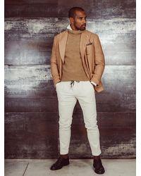 Michael Coal Pantalone pantalone panna pantalaccio mc-johnny velluto a coste - Neutro