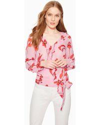 Parker Pasha Floral Blouse - Pink