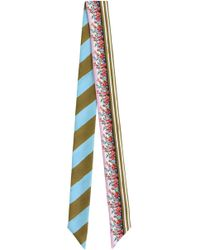 Fendi - Blooming Gardens Wrappy Turquoise Stripe - Lyst