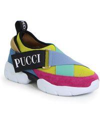 Emilio Pucci City Trainers Fuschia/yellow - Multicolour