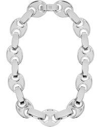Paco Rabanne Eight Link Choker Silver - Metallic