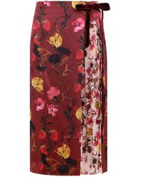 Mother Of Pearl - Mittie Floral Print Wrap Skirt Multi - Lyst